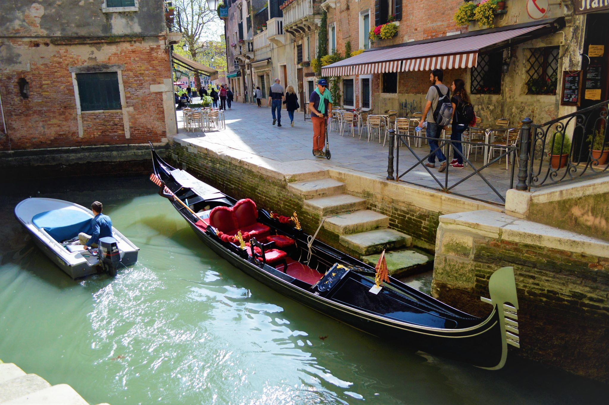 Heart gondola, Venice, Italy