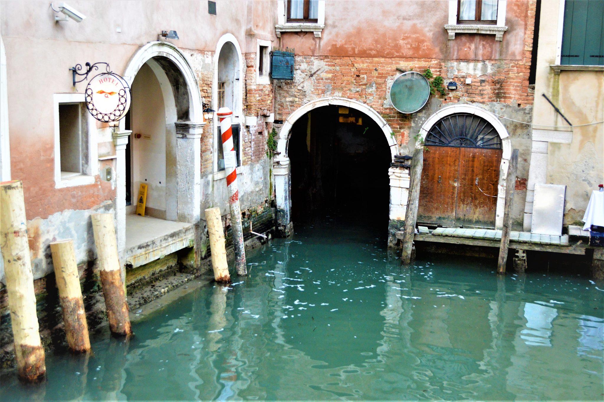 Hotel Caneva boat park, Venice, Italy
