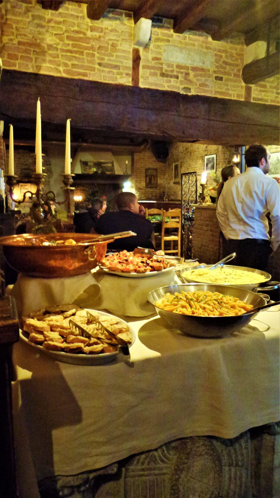 Taverna Ramer free buffet, Venice, Italy