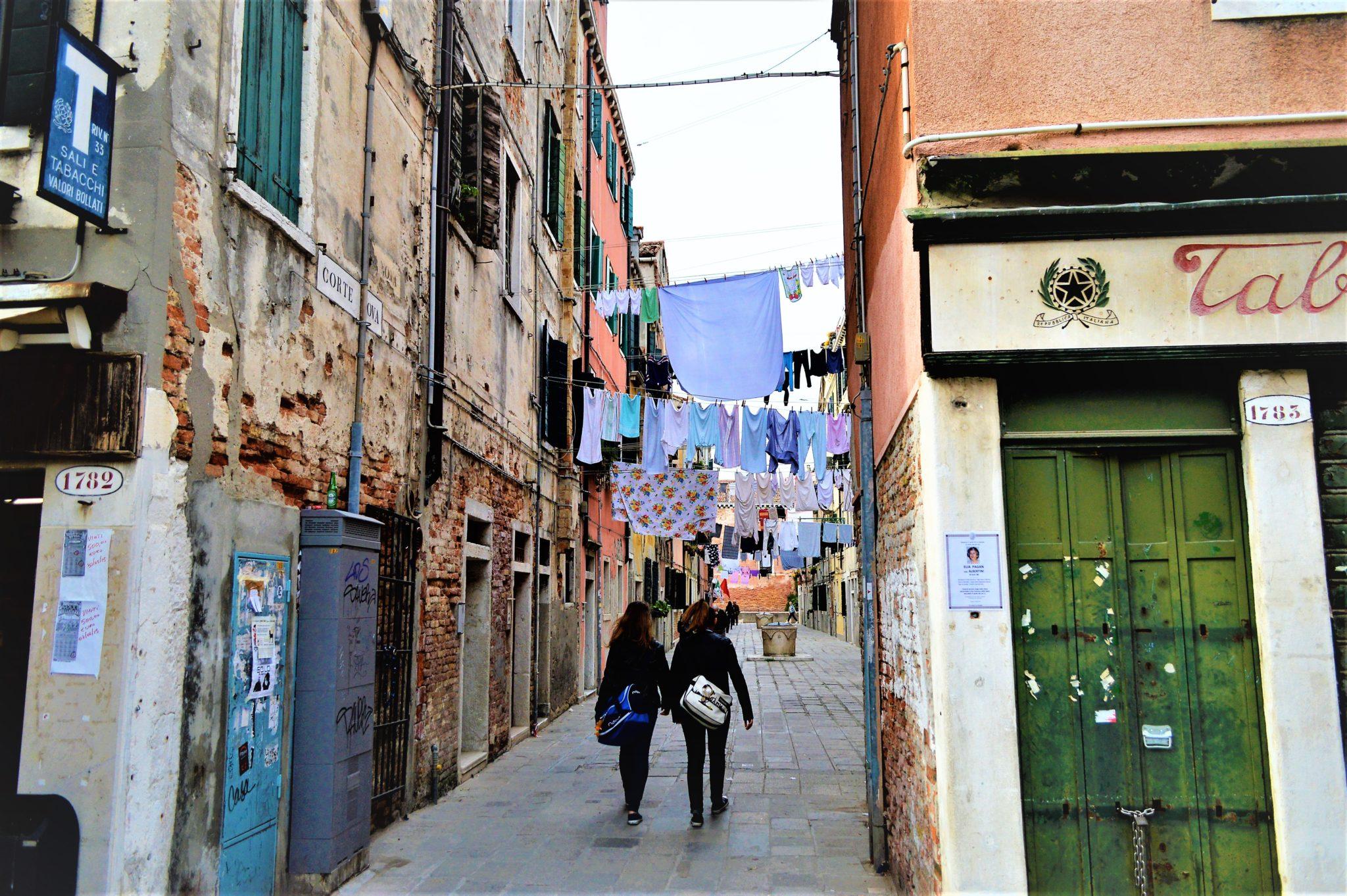 Via Giuseppe Garibaldi street in Venice, Italy