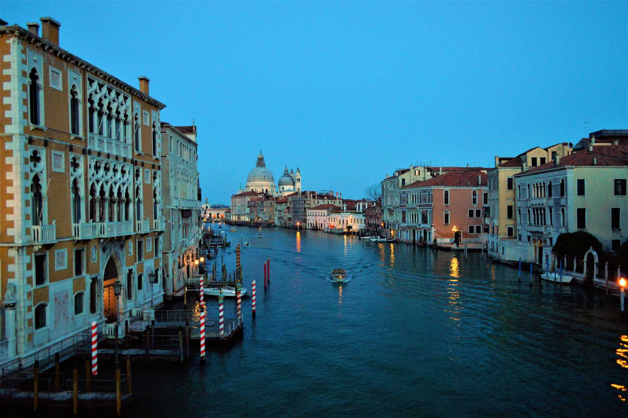 View from the Academia Bridge, Venice, Italy