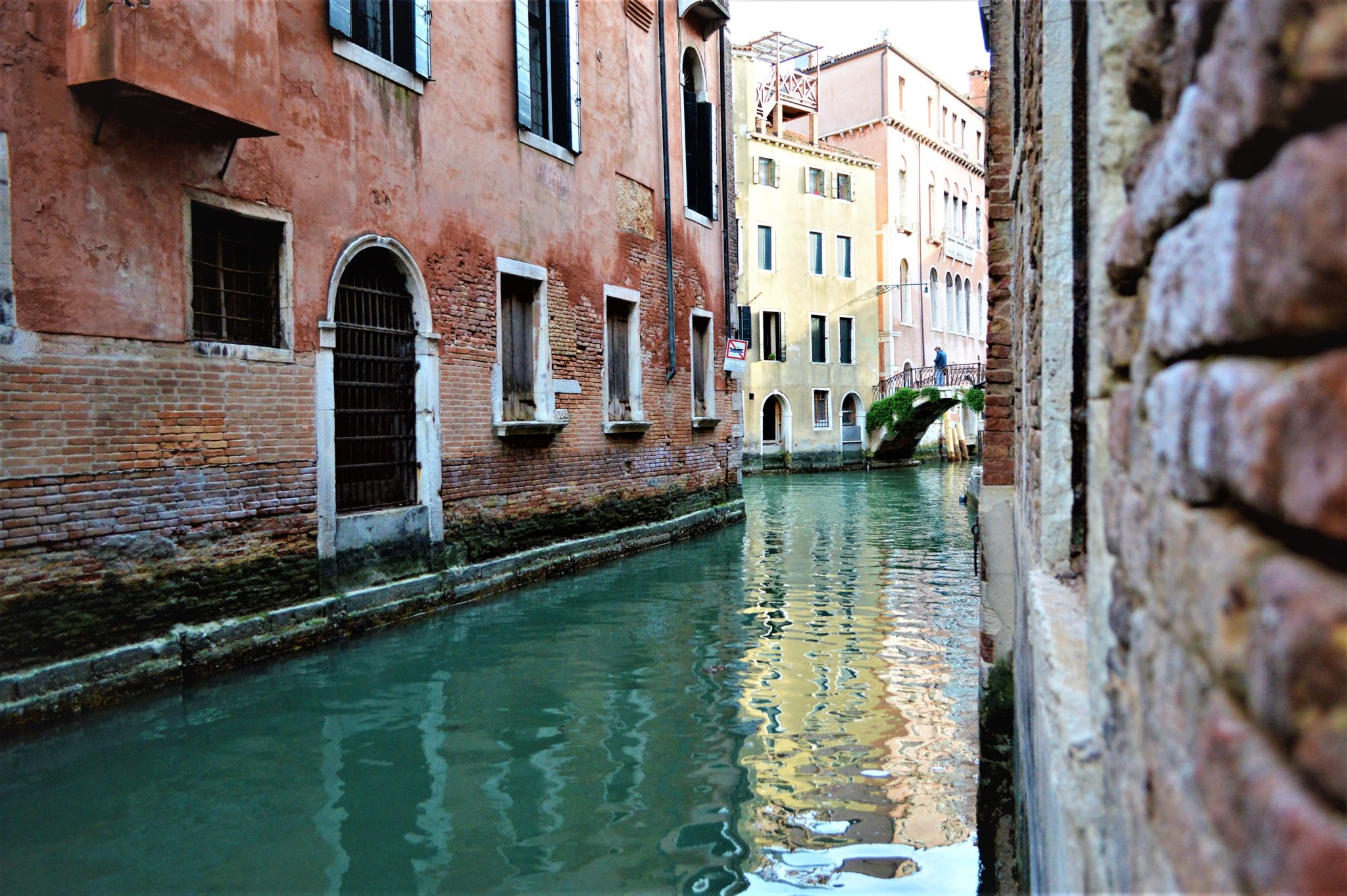 View of canal way, Venice Italy